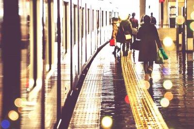 Fotomural 駅 の プ プ 光景 光景 光景 光景 光景 光景 光景 人 人 人 人