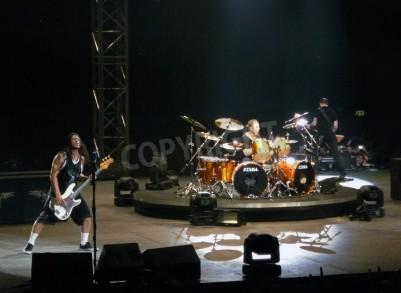Fotomural Concierto de la banda â € œMetallicaâ €, Roma, 24 de junio de 2009. La banda.