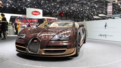 Fotomural Ginebra, Suiza - 02 de marzo 2014: 2014 Bugatti Veyron Rembrandt Bugatti presentó en la 84ª Salón Internacional de Ginebra