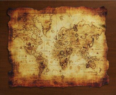 Fotomural 宝の地図/古い地図