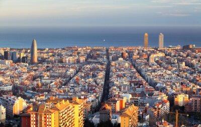 Fotomural Paisaje urbano de Barcelona, España