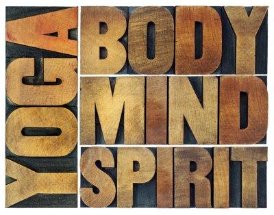 Fotomural Yoga, cuerpo, mente, alma y espíritu