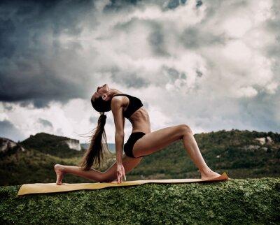 Fotomural Yoga guerrero plantean