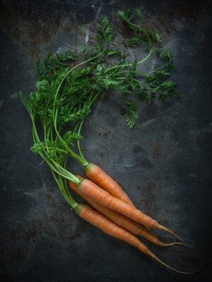 Fotomural Zanahorias en una placa