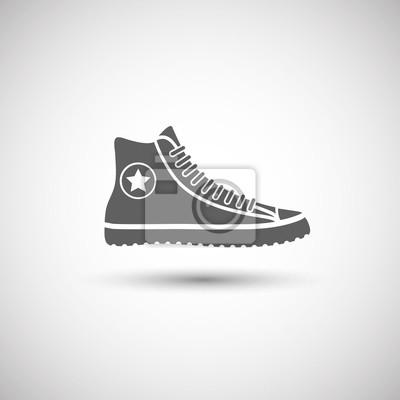 Zapatos deportivos icono fotomural • fotomurales puntadas 264274ec01733