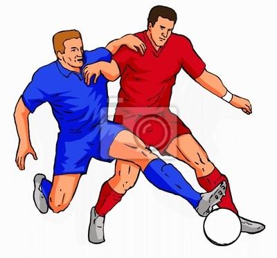 2 jugadores de fútbol que abordan la pelota