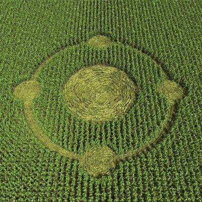 Póster 3d ilustración de un círculo de la cosecha