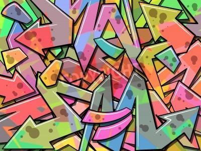 Póster A Colorful Graffiti Background