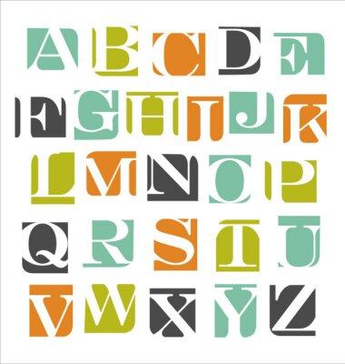 Póster abstractas del alfabeto cartel moderno