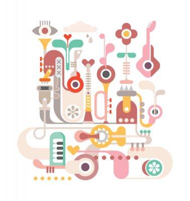 Póster Abstracto de la música