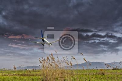 Aeronaves en aterrizaje