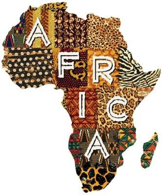 Póster África mapa mosaico vectorial