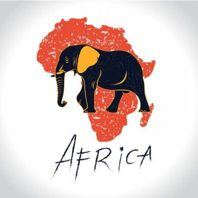 Póster África y Safari con el logotipo de elefante 2