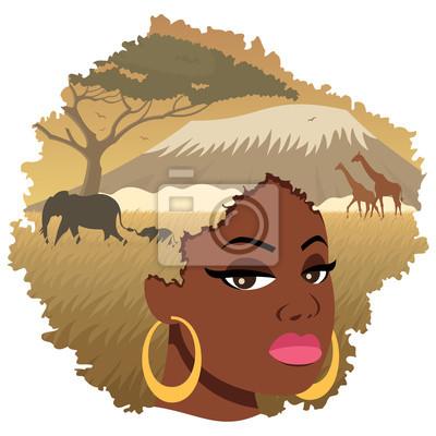 African Girl Landscape 2