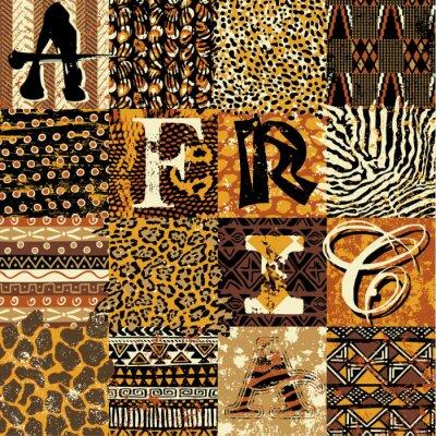 African style vector wallpaper
