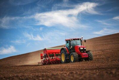 Póster Agricultor, sembrador, siembra, cultivos, campo