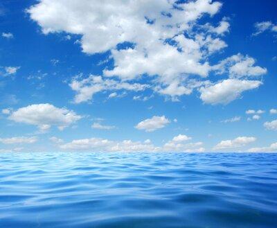 Póster Agua azul del mar