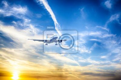 Airbus A-320 durante el aterrizaje
