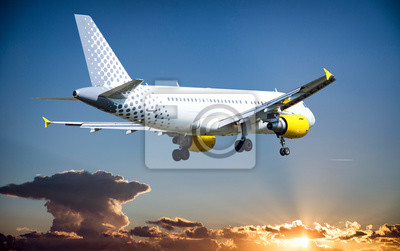 Airbus durante el aterrizaje