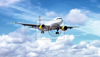 Airplane during landing