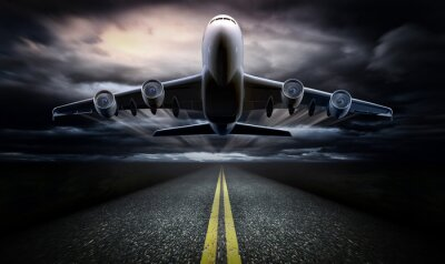 Póster Airplane on the runway