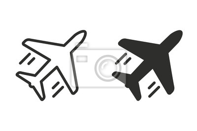 Airplane vector icon.
