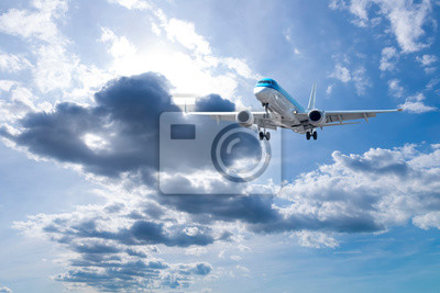 Airplane with beautiful sky