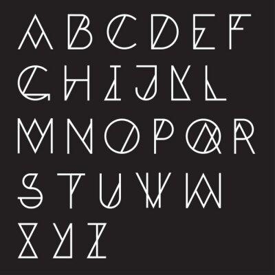 Póster Alfabeto geométrico moderno