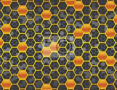 Ámbar y gris NO Relanzar el fondo de nido de abeja