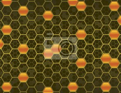 Ámbar y Oro no-Relanzar el fondo de nido de abeja