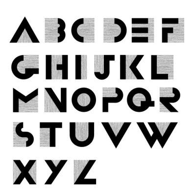 Póster Amplio alfabeto decorativo retro