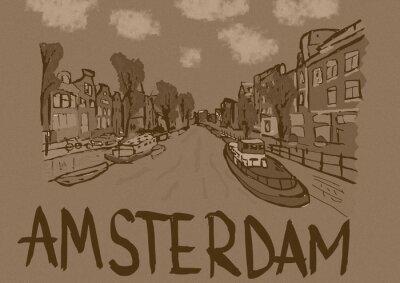 Póster Amsterdam vintage