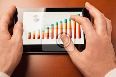 Analizar el gráfico en pantalla de la tablet-pc