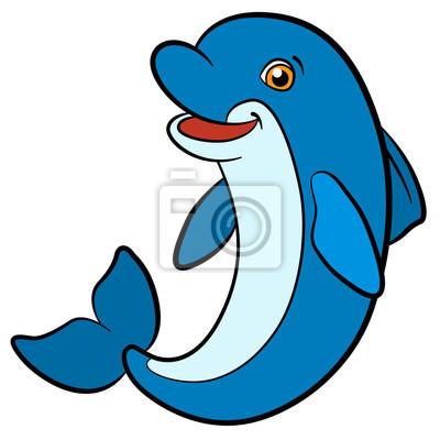 Animales De Dibujos Animados Para Ninos Pequeno Delfin Lindo