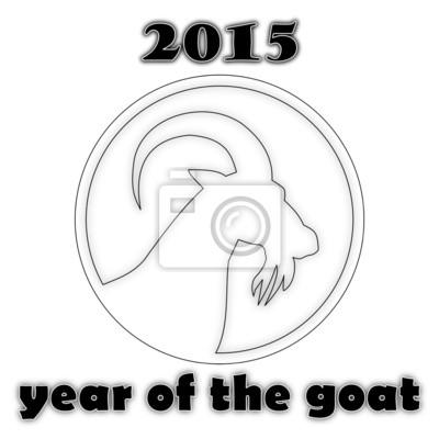 Año de la cabra - en blanco y negro