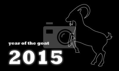 Año de la Cabra - fondo negro
