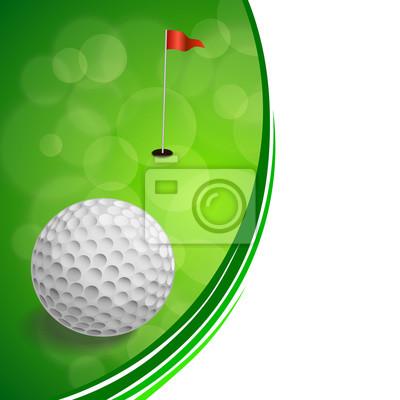 Antecedentes deporte del golf abstracta bandera roja marco verde ...