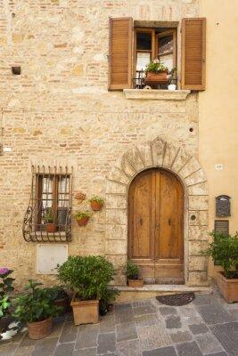 Póster Antigua ciudad de Montepulciano en Toscana