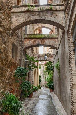 Póster antiguo callejón italiano