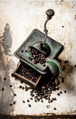 Póster Antiguo molinillo de café