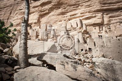 Antiguo pueblo Dogon, Mali, África.