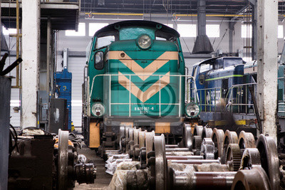 Antiguo tren de carga