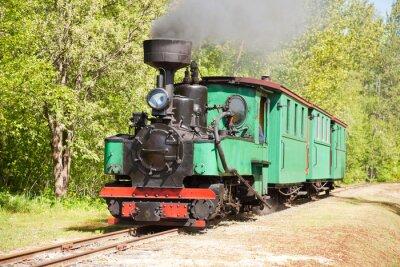 Póster Antiguo tren de vapor
