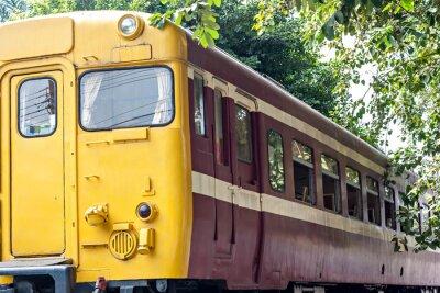 Póster Antiguo tren en la estación de