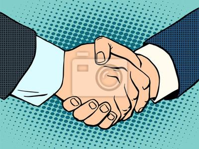 Apretón de manos contrato acuerdo de negocios
