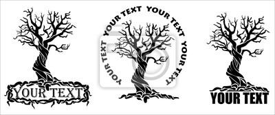 árbol estilizado con el texto