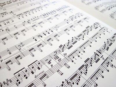 Póster Archivo para los fondos musicales
