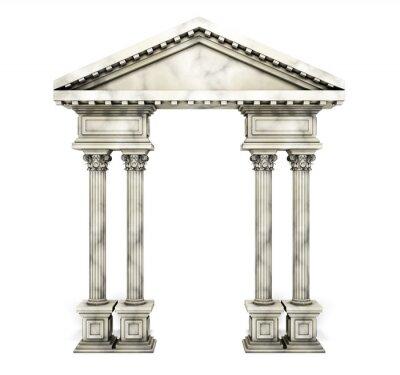 Póster Arco clásico de la columna del Corinthian.