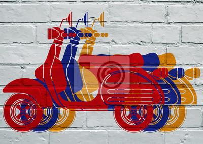 Arte callejero, scooters multicolores