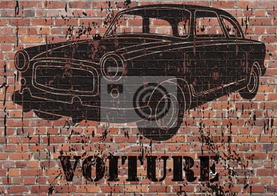 Arte de la calle, grunge coche
